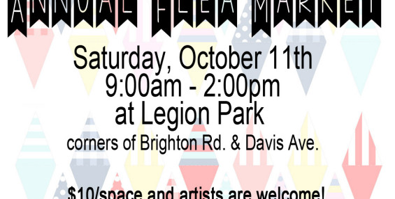 Annual Flea Market is October 11th!