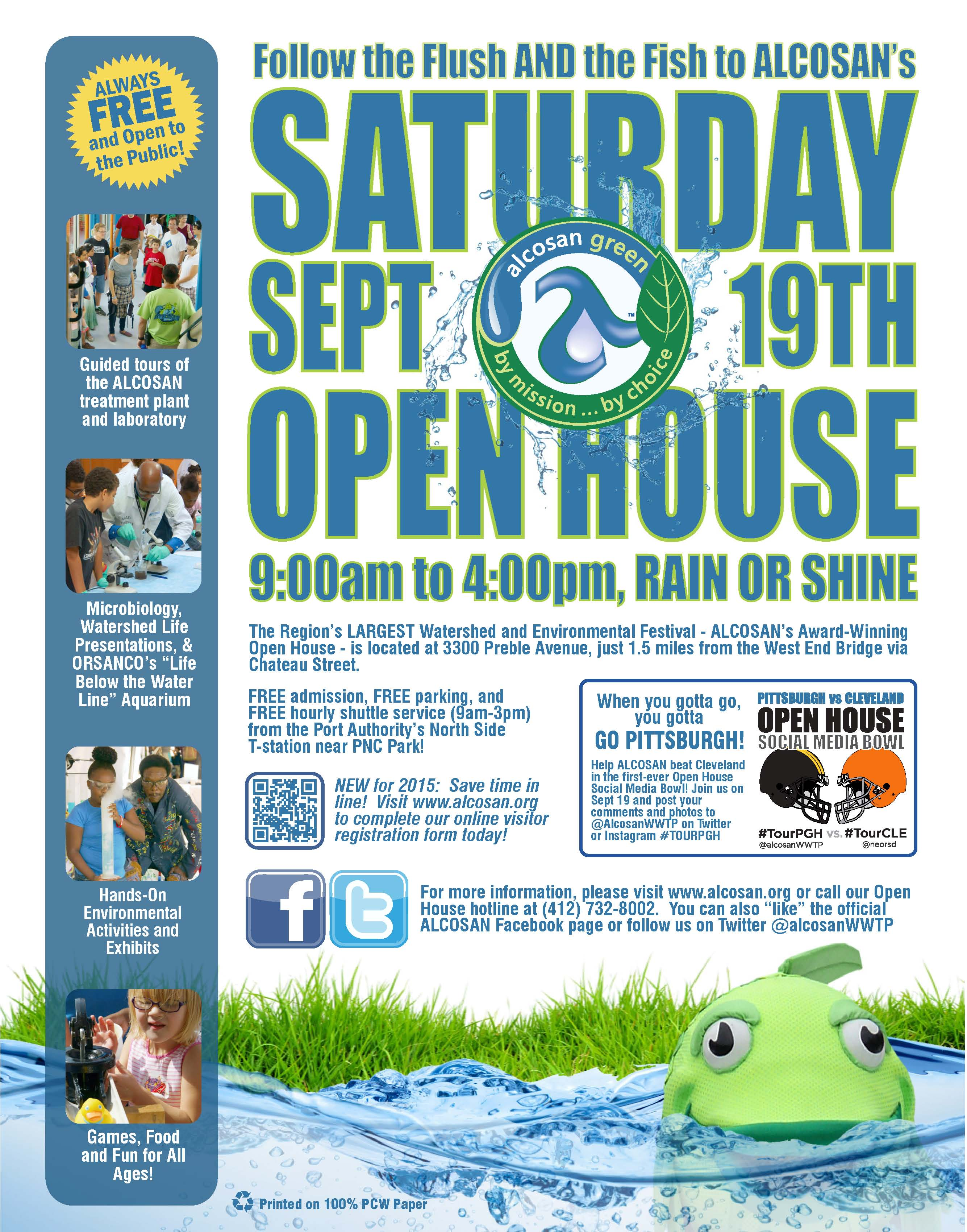 ALCOSAN Open House – Saturday, September 19, 2015