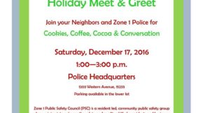 Zone 1 Public Safety Council – Holiday Meet and Greet
